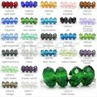 10pcs 14x14mm Rondelle Loose Faceted Crystal European Beads Jewelry Making