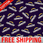 "Los Angeles Chargers NFL Cotton Fabric - 60"" Wide - Style# 14711 - Free Shipping $7.95 USD on eBay"
