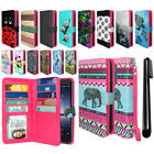 For ZTE Zmax Pro Carry Z981 Hot Pink Wallet Card Cash Slot Cover Case + Pen