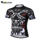 Skull Cycling Jersey Weimostar Breathable Short Sleeve Men Bike Shirt Clothing