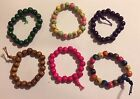 Wooden Elasticated Beaded Bracelet *Various Colours*