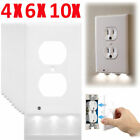 Lot Plug Cover LED Light Sensor Night Angel Wall Outlet Face Hallway Coverplate