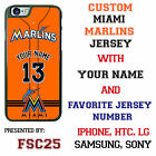 Miami Marlins Baseball Jersey Phone Case personalized for Samsung etc