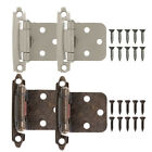 2/10/20/50X Kitchen Cabinet Hinges Self Closing Face Mount Cupboard Door Hinge