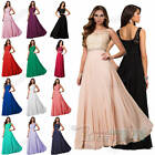 New Long Scoop Chiffon Lace Bridesmaid Formal Gown Ball Party Evening Prom Dress