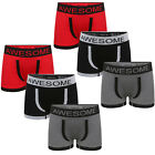 6/12 Pack Boys Novelty Boxers Kids AWESOME New Designer Seamless Underwear Short