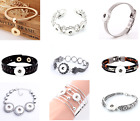brand new women's fashion snaps jewelry diy charms bracelet for snap 18mm button