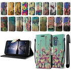 For ZTE Zmax Pro Carry Z981 Vintage Design ID Card Wallet Cover Case Stand + Pen