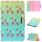 Patterned Card Slots Flip PU Leather Stand Case Cover For Samsung Tab T230/T580