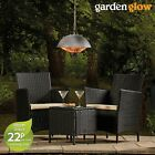 Garden Glow Patio Heater Ceiling Mounted Hanging Lamp 1.5KW Heat & Pull Switch
