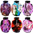 GOKU BLACK  HOODIE DRAGONBALL SUPER SUPER SAIYAN ZAMASU HOODED TOP SWEATER