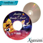 RARE Aladdin & Beatuy and the Beast GoodTimes DVD - Scratch Free Disc #XD19
