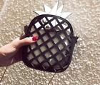 New PU Hollow Hit Color Creative Personality Pineapple Bangalor Messenger Bag