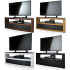 """AVF Burghley Wood Gloss Corner Glass TV Stand  For 42"""" - 65"""" LED CURVE OLED LCD"""