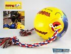 "Tuggo Dog Rope Toy DURABLE 4"" Tug Tough Weighted Ball High Floating Dogs"