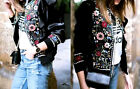 ZARA FLORAL EMBROIDERED FRILLED BOMBER JACKET JACKE BLUMENSTICKEREI STICKEREI