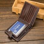 Men PU Leather Wallet Credit Card Holder With Zip Coin Pocket & ID New LA