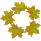 Fall Silk Leaves Autumn Maple Leaf Decorations Wedding Favor  100 pcs