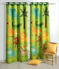Yuga Blackout Door / Window Curtain Eyelet Jungle Safari Kids Bedroom Curtain