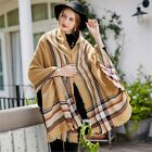 Women Long Wrap Soft Cashmere Feeling Plaid Large Scarf Autumn Winter Warm Shawl