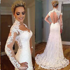 Sexy Long Sleeve Wedding Dresses 2017 Lace Vestidos De Noiva Mermaid Bridal Gown