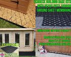 SHED BASE KIT + HD WEED FABRIC 6x4 8x6 10x6 10x8 12x6 GREENHOUSE ECO GRIDS em