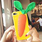 3D Cute Bunny Rabbit Carrot Shockproof Soft Case Cover for iPhone 6/6S/7/7 Plus