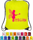 Personalised Drawstring Bag Bag Sack School Gym PE Swim Custom Print FAIRY