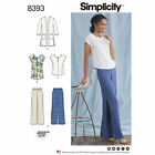 Simplicity Pattern 8393 Womens & Plus Size Pants, Tunic or Top, & Knit Cardigan