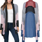 Women Long Sleeve Knitted Sweater Tops Loose Cardigan Outwear Coat Oversized q1