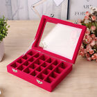 Ring Earring Jewelry Display Holder Show Case Storage Box Organizer Tray Gift US