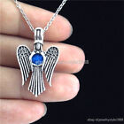 Antique Silver -V278 Beads Cage Angel Wing Fairy Stainless Steel Chain Necklace