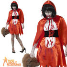 Adult Zombie Little Red Riding Hood Costume Ladies Halloween Fancy Dress Outfit