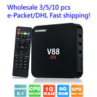 V88 4K Android 6.0 Smart TV BOX Latest 16.1 RK3229 Quad Core 8GB HD 1080P WIFI