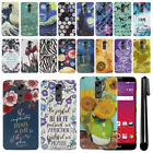 For LG Stylo 2 LS775/ Stylus 2 K520/ VS835 PATTERN HARD Back Case Cover + Pen