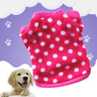 Pet Dog Warm Jumper Sweater Xmas Clothes Puppy wear Costume Coat Rose Red Dot