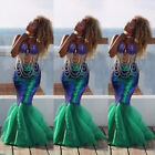 US Stock Sexy Mermaid Costume Fancy Party Cocktail Sequins Maxi Dress Tail Skirt