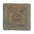 Set of 4 or 6 Square Grey Wicker Rattan Placemats