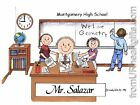 PERSONALIZED CUSTOM CARTOON PRINT - HIGH SCHOOL TEACHER - GREAT GIFT! FREE S/H