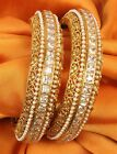 334 Indian Bollywood Jewelry Polki Lovable Beautiful Gold plated Wedding Bangles
