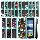 For LG K8V VS500 Hybrid Clear Teal bumper Protective Case Phone Cover + Pen