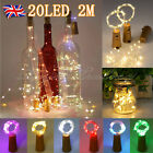 UK 20 LED Cork Shape Starry Night Light Wine Bottle Lamp Valentine's Wedding