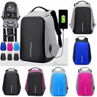 Anti Purloining Smart School College Travel Backpack Safe Bag USB Charging Laptop New
