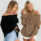Fashion Women's Long Sleeve Knitted Pullover Jumper Casual Sweater Knitwear Tops