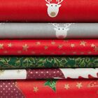 Christmas printed quality material 100% cotton fabric by the metre or 1/2 metre