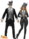 Deluxe Dark Mad Hatter Costume Mens Ladies Fancy Dress Halloween Alice Couples