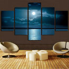 5Pcs Modern Unframed Canvas Painting Art Vivid Home Wall Decoration Gift + Screw