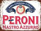 Peroni nastro azzurro lager beer vintage style metal wall plaque sign