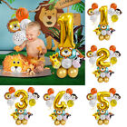 5Pcs First Baby Birthday Foil Balloon Set Kid Boy Girl 1st Party Balloons Decor