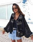 ZARA EMBROIDERED JACKET WITH DOTTED MESH XS-XL REF. 6895/257 AW17 BLOGGERS FAV.